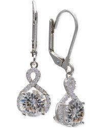 Giani Bernini - Cubic Zirconia Infinity Leverback Earrings In Sterling Silver - Lyst