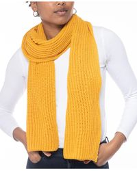 Style & Co. Solid Ribbed Muffler Scarf, Created For Macy's - Yellow