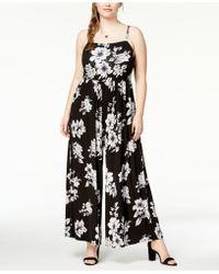 Soprano - Trendy Plus Size Wide-leg Knit Jumpsuit - Lyst