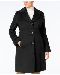 Jones New York - Plus Size Notched Shawl-collar Walker Coat - Lyst