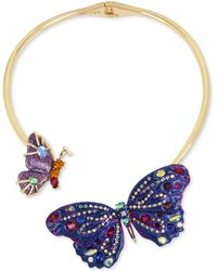 Betsey Johnson - Butterfly Hinged Collar Necklace - Lyst