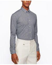 BOSS by Hugo Boss - Piqué Slim-fit Shirt - Lyst