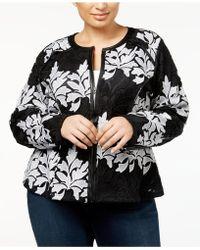 INC International Concepts - Plus Size Lace Jacket - Lyst