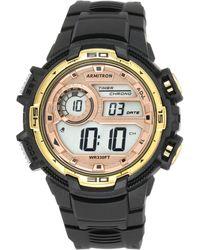 Armitron - Men's Digital Chronograph Black Strap Watch 48mm 40-8347bkgd - Lyst