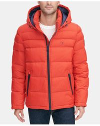 Tommy Hilfiger Quilted Puffer Jacket, Created For Macy's - Orange