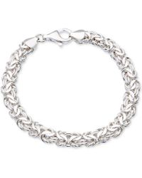 Giani Bernini Byzantine Link Bracelet In Sterling Silver - Metallic