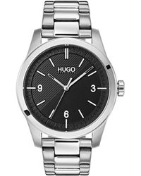 HUGO #create Stainless Steel Bracelet Watch 40mm - Black