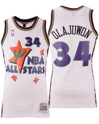 watch 54c31 88b0f Mitchell & Ness Synthetic Hakeem Olajuwon Nba Fashion All ...