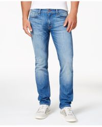 Guess - Men's Slim-fit Light Blue Jeans - Lyst
