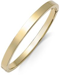 Macy's Polished Smooth Bangle Bracelet In Metallic Yellow Ion-plated Stainless Steel