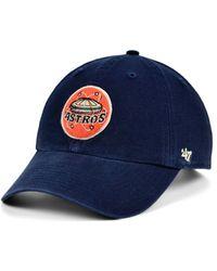 47 Brand - Houston Astros Mclean Coop Clean Up Cap - Lyst