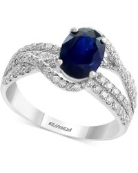 Effy Collection - Sapphire (1-3/8 Ct. T.w.) And Diamond (3/4 Ct. T.w.) Ring In 14k White Gold - Lyst