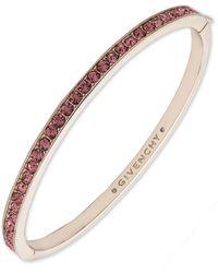 Givenchy Gold-tone And Rose Crystal Bangle Bracelet - Pink