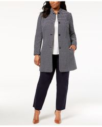 Anne Klein - Plus Size Printed Coat - Lyst
