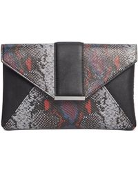 INC International Concepts Inc Luci Python-embossed Envelope Clutch, Created For Macy's - Multicolour