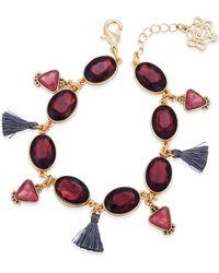 Nanette Lepore Beautifully Berry Line Bracelet - Metallic