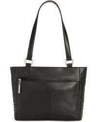 Giani Bernini Nappa Classic Leather Tote, Created For Macy's - Black