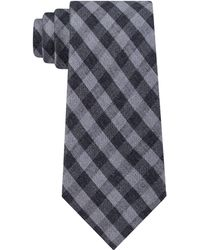 Michael Kors Matte Texture Check Tie - Grey