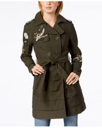 INC International Concepts - Embroidered Trench Coat, Created For Macy's - Lyst