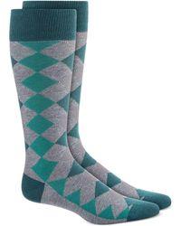 Alfani Diamond Striped Argyle Socks, Created For Macy's - Grey