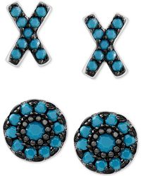 Macy's - 2-pc. Set X And O Stud Earrings In Sterling Silver - Lyst