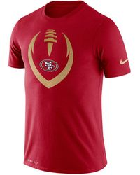 pretty nice 3fec1 d49cf Nike San Francisco 49ers Icon T-shirt in Black for Men - Lyst