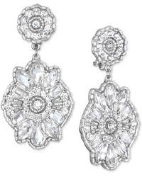 Badgley Mischka - Crystal Cluster Drop Earrings - Lyst