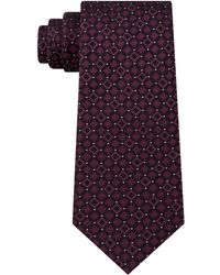 Kenneth Cole Reaction - Connect Square Slim Silk Tie - Lyst