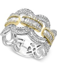 Effy Collection - Diamond Statement Ring (1-1/10 Ct. T.w.) In 14k White And Yellow Gold - Lyst