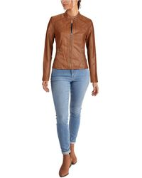 Guess Faux-leather Moto Jacket - Multicolor