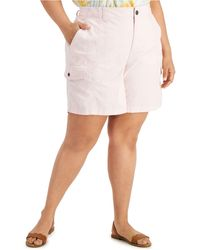 Style & Co. Plus Size Cargo Shorts, Created For Macy's - White