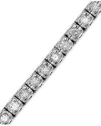 Macy's - Diamond Bracelet (2-3/8 Ct. T.w.) In 14k White Gold - Lyst