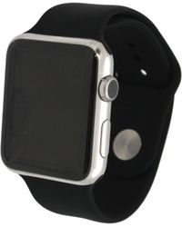 Olivia Pratt Solid Silicone Band For Apple Watch 42mm - Black