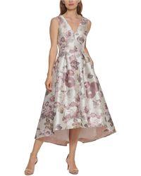 Eliza J Floral-print High-low Fit & Flare Dress - Multicolour