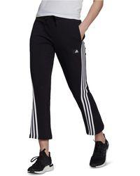 adidas Cropped 3-stripe Pants - Black