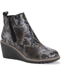 Muk Luks Dionne Wedge Boots - Gray