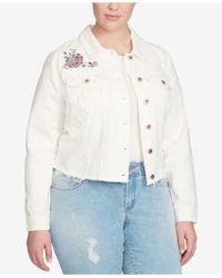 Jessica Simpson - Trendy Plus Size Embroidered Denim Jacket - Lyst