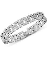 Macy's Diamond Link Bracelet (1/3 Ct. T.w.) In Tungsten - Metallic