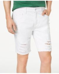 "INC International Concepts - Men's Ripped 9"" Shorts - Lyst"