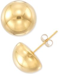 Signature Gold - Half Sphere Stud Earrings In 14k Gold Or White Gold Over Resin - Lyst