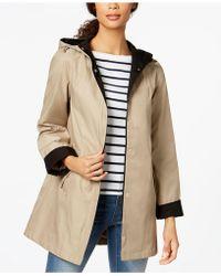 Jones New York | Hooded Colorblocked Raincoat | Lyst