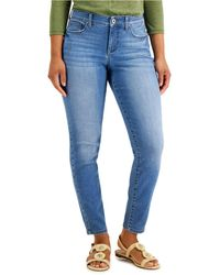 Style & Co. Curvy-fit Skinny Jeans, Created For Macy's - Blue