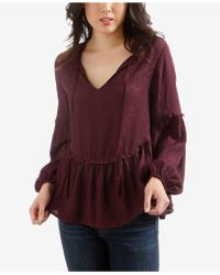 Lucky Brand - Ruffled Peasant Top - Lyst