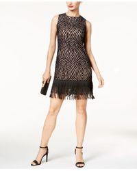 Julia Jordan - Illusion Fringe Dress - Lyst