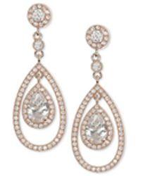 Anne Klein - Gold-tone Crystal Orbital Drop Earrings - Lyst