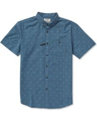 Billabong All Day Geometric Jacquard Pocket Shirt - Blue