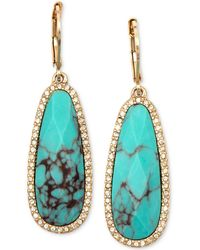 Lonna & Lilly - Gold-tone Stone And Crystal Drop Earrings - Lyst