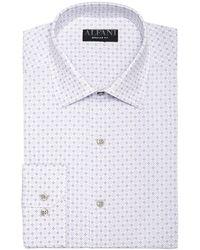 Alfani - Classic/regular Fit Performance Stretch Circle & Geometric Print Dress Shirt, Created For Macy's - Lyst