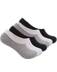 K-swiss Foot Liner No Show Cotton Socks, Print, 6 Pack - Multicolor
