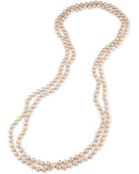 Carolee - Imitation Pearl Extra Long Necklace - Lyst